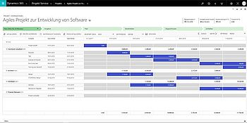 Dynamics 365 Project Service Automation Projektplan